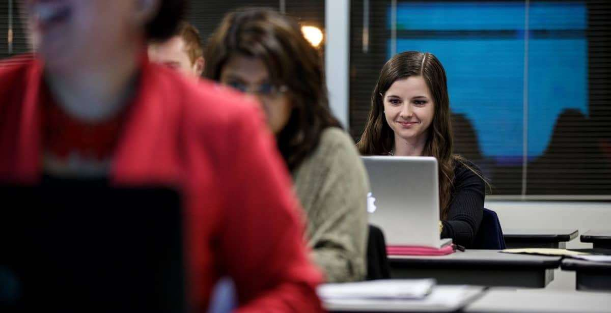 Marymount University student in classroom