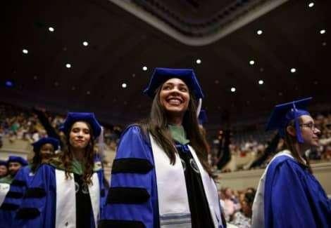 Hispanic Marymount University graduate